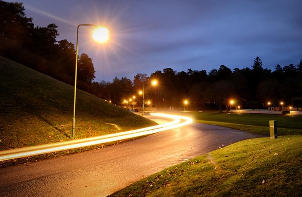 Light Trail Hills