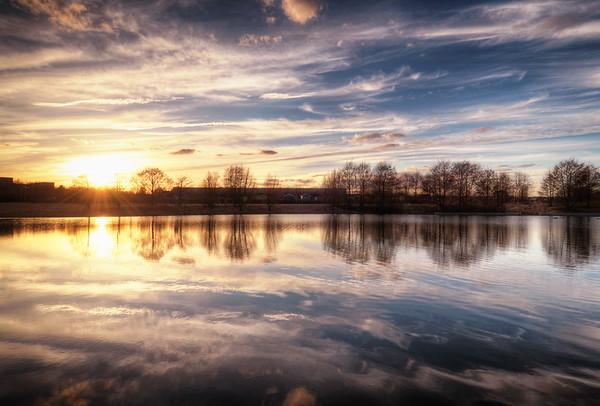 Årsta Field Sunset