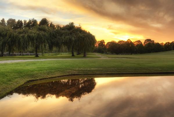 Oval Pond Sunset