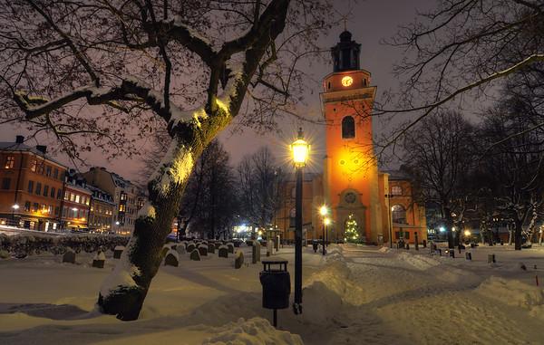 Winter Church Night