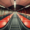 Red Subway Escalators II