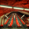 Red Subway Escalators I
