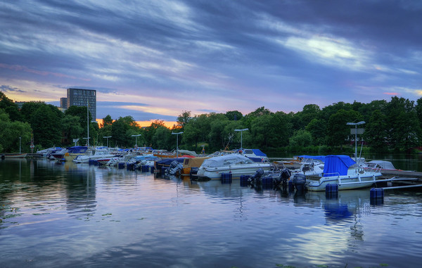 Karlberg Marina Sunset