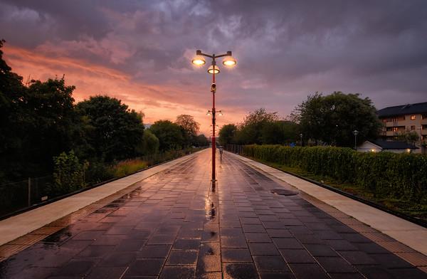 Sandsborg Sunset Rain