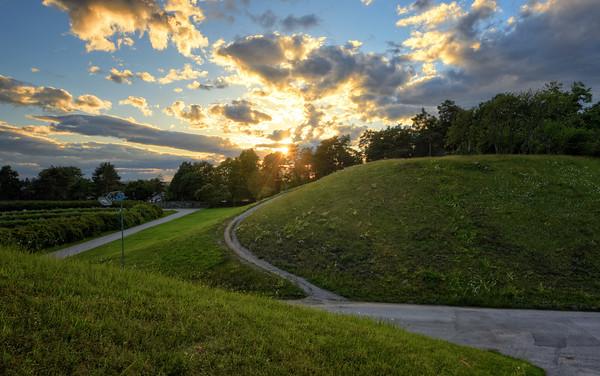 Grassy Hills Sunset