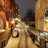 Snowy Urban Hill