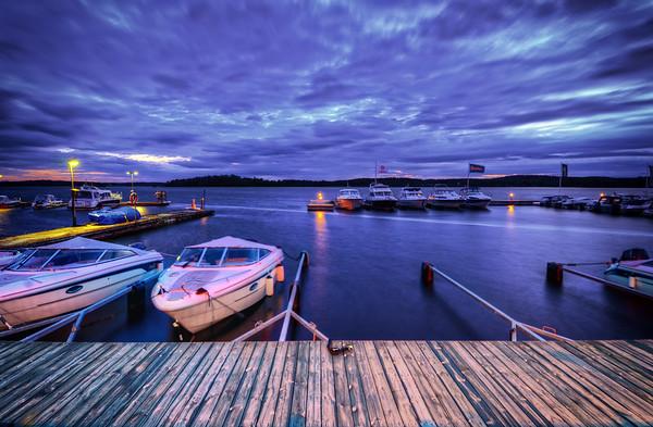 Purple Marina Boardwalk