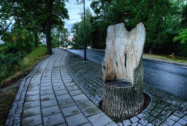 A Streetside Throne