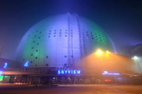 The Globe in Fog