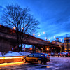 Cars by the Bridge
