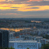 Sunset at Hammarby Hill