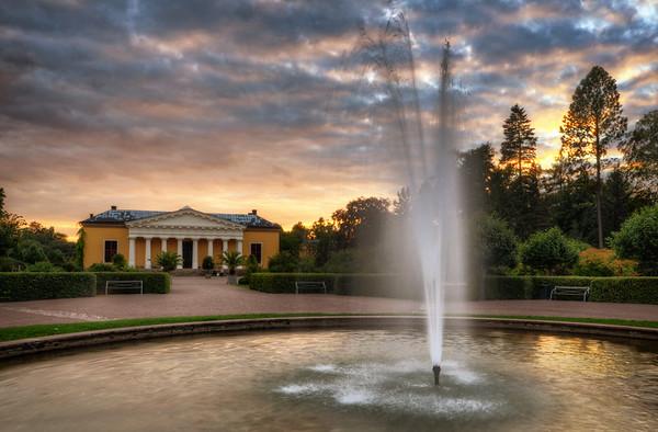 Orangery Fountain Sunset