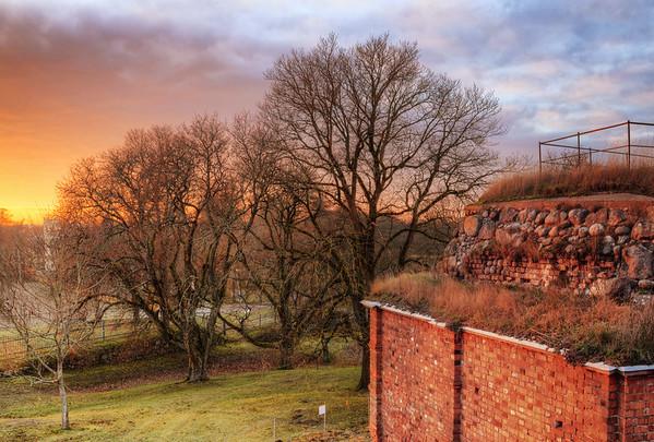 Brick Wall Sunset