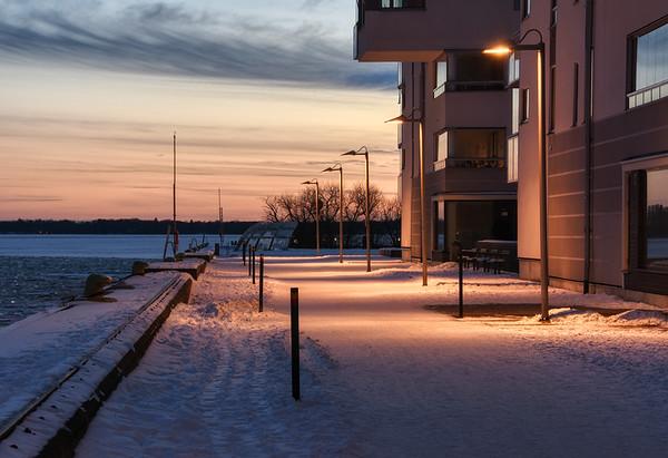 Winter Bay Sunset