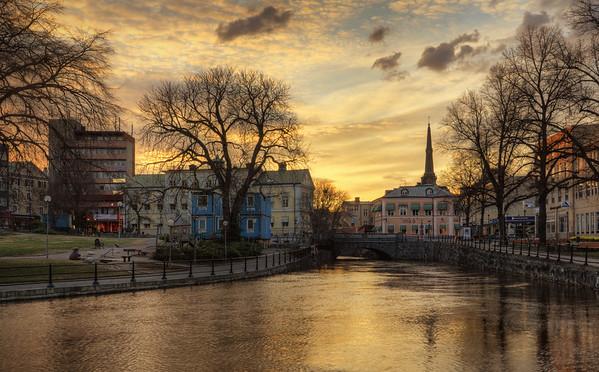 Steeple Town Sunset