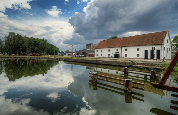 Across Vadstena Moat