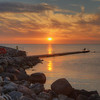 Visby Sunset Bathers