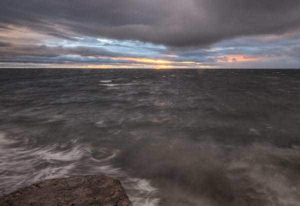Rainy Sunset Ocean