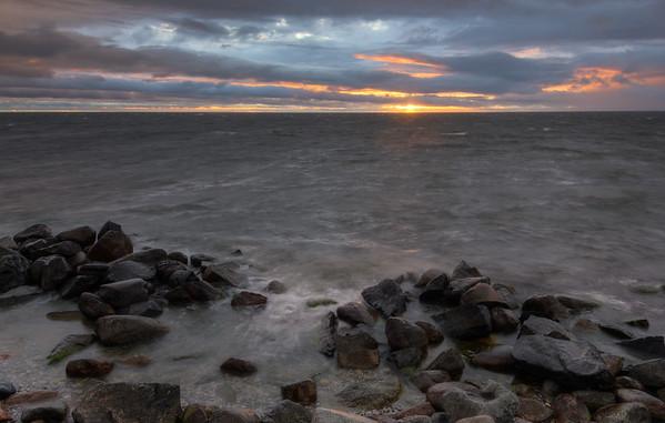 Stormy Ocean Rocks