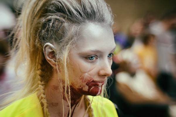 Blonde Braids Zombie