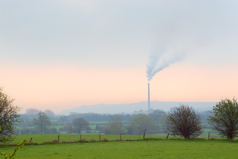 12th Apr 07:  Early morning over Westbury Cement Works. Hawkridge Jct