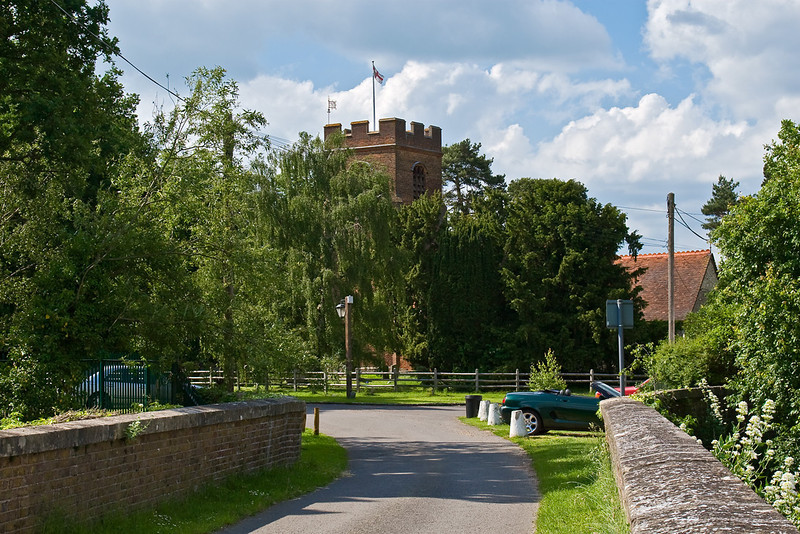 5th Jun 08:  Ruscombe Church from the Southbury Lane bridge