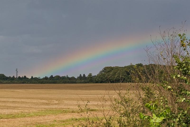 3rd Sept 08:  Rainbow from Shottesbrooke bridge
