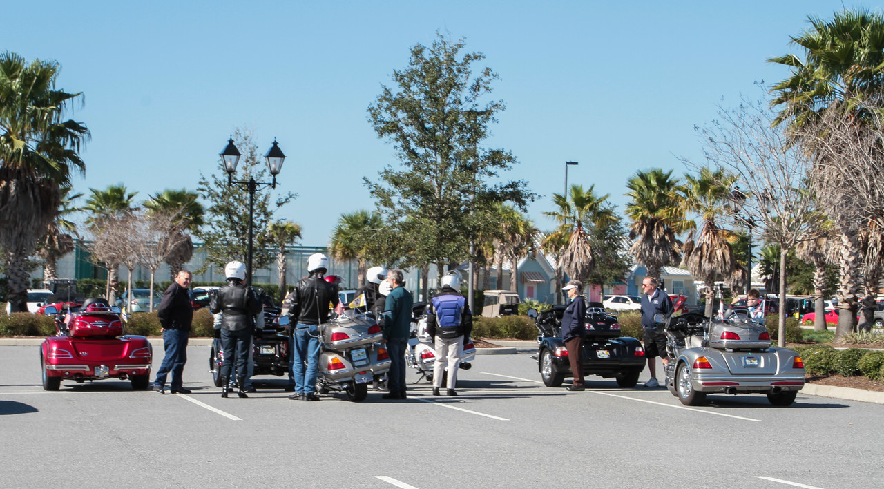 """Even the local """"Trike"""" motorcycle club came out to watch the events....."""