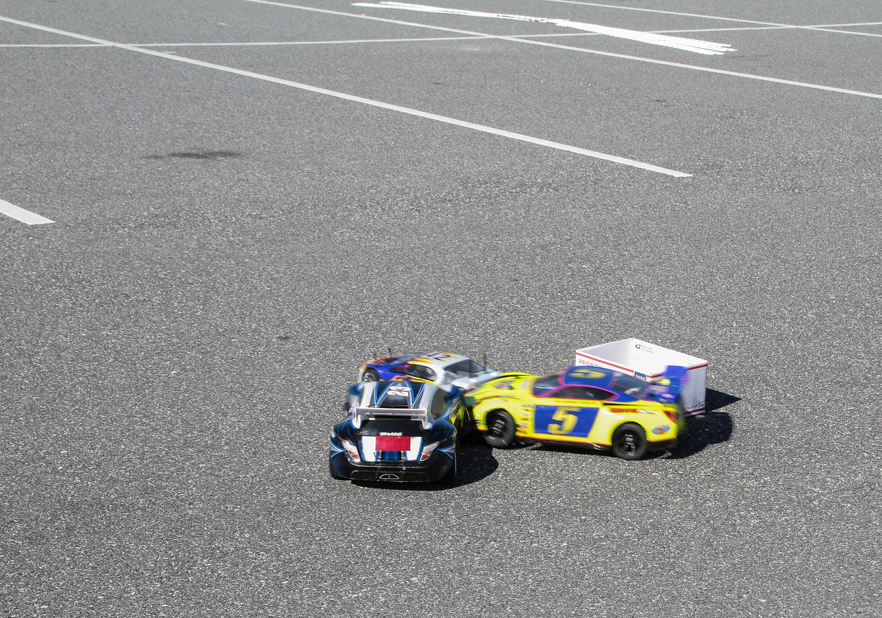 #5 doing a block on two cars at once!