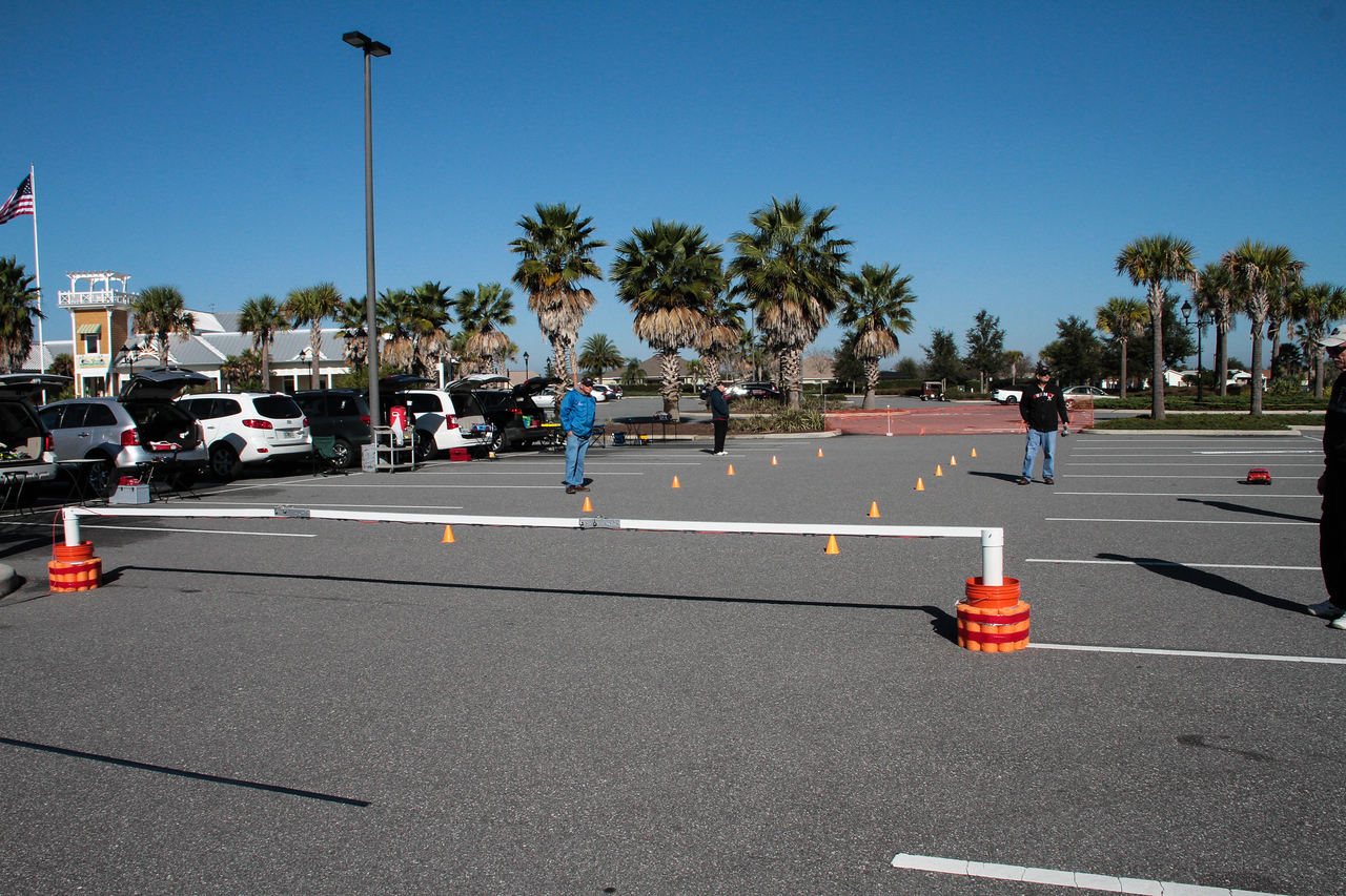 Slalom course, utilizing our new computerized timing system.