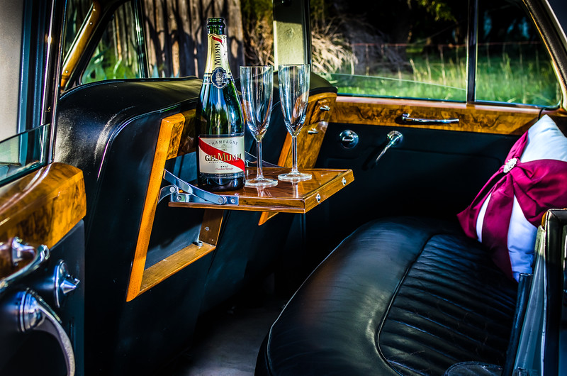 Back seat luxury in a 1960 Bentley.