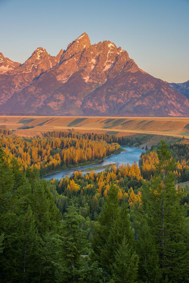 Morning Light Greets Mountain