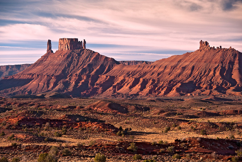 Red Mesas, south of Fisher Towers. Permian sandstones. Utah.