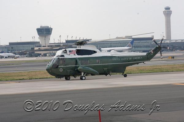 President Obama at Newark Airport