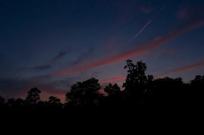 Sunset Contrails: The Woodlands