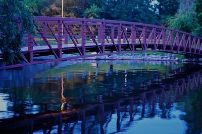 A bridge of many colors