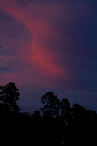 Painted clouds, waiting for the Moon, The Woodlands