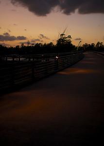 Lake Woodlands Parkway Bridge, circles of light