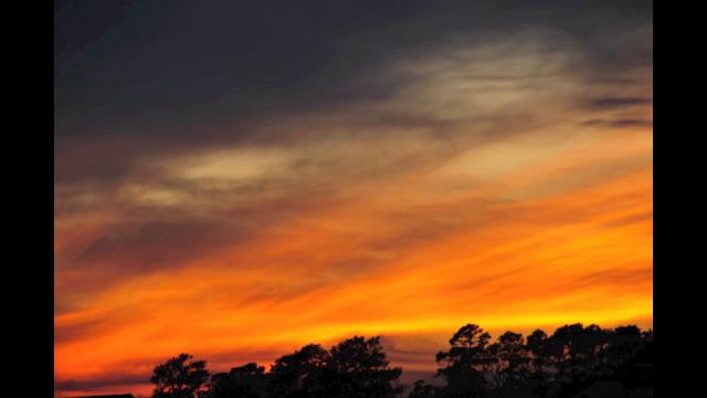 Sunset over Lake Woodlands
