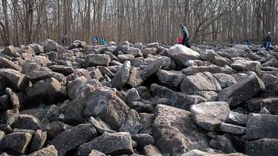 Ringing Rocks County Park,  Eddy, Pennsylvania
