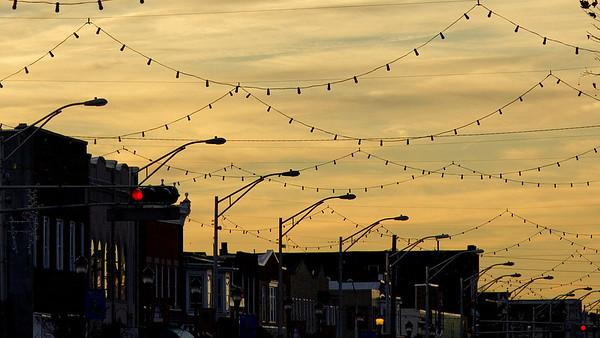 Sunset on Landis Avenue