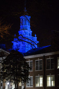 Bunce Hall, Rowan University - Blue for Autism Awareness
