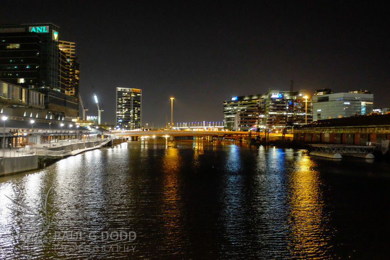 Charles Grimes Bridge (with Bolte Bridge in the background) from Seafarers Bridge, Docklands
