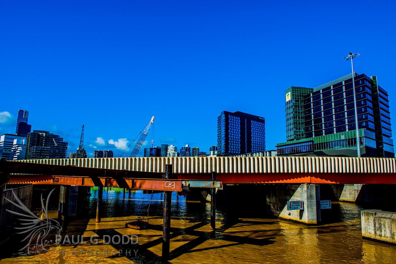 Sir Charles Grimes Bridge and Jim Stynes Bridge (under construction)