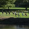 Dance class held outdoors.