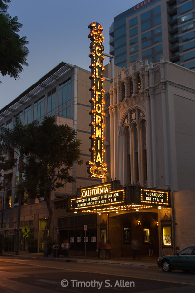 The California Theater, San Jose, CA