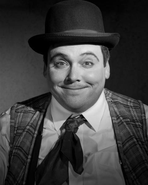 "Scott Leggett as Roscoe ""Fatty"" Arbuckle in ""STONEFACE:  The Rise and Fall and Rise of Buster Keaton"""