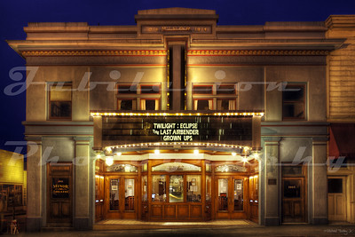 "The Minor Theatre, Arcata, CA.  It was opened in 1914 and is one of the oldest buildings in the United States built for feature films that is still open and showing movies. It was the first building in Humboldt County to be built as a ""true movie theater."""