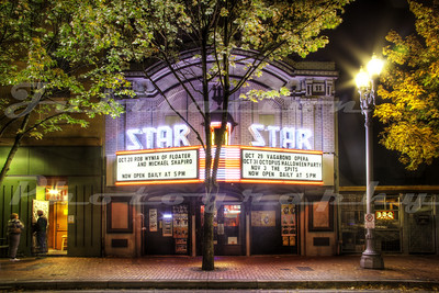 The Star Theater, Portland, OR.  Opening in 1911 as the Princess Theatre, it became the Star Theatre in 1939.  The Marquee was rebuilt and installed in August of 2011.