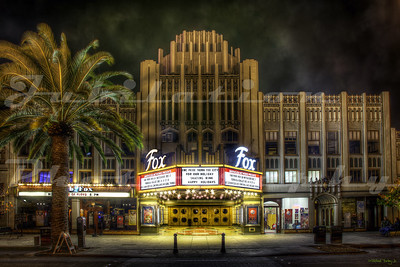 The Fox Theatre, Redwood City, CA.  Opened in 1929 as the Sequoia Theatre, remodeled and renamed the Fox in 1950.